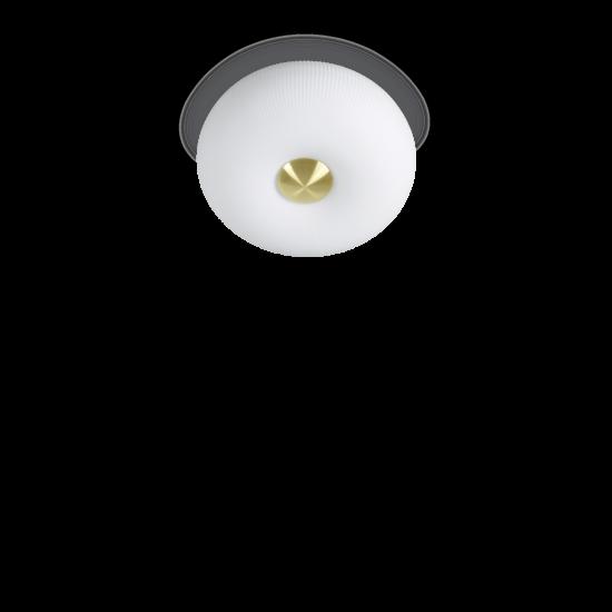 Ideal Lux Arizona 214498 PL2 Φωτιστικό Οροφής Μοντέρνο Λευκό Με Ανάγλυφες Ρίγες