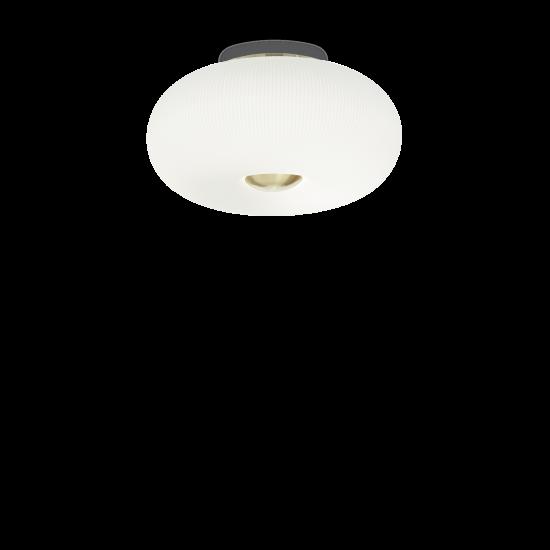 Ideal Lux Arizona 214504 PL3 Φωτιστικό Οροφής Μοντέρνο Λευκό Με Ανάγλυφες Ρίγες
