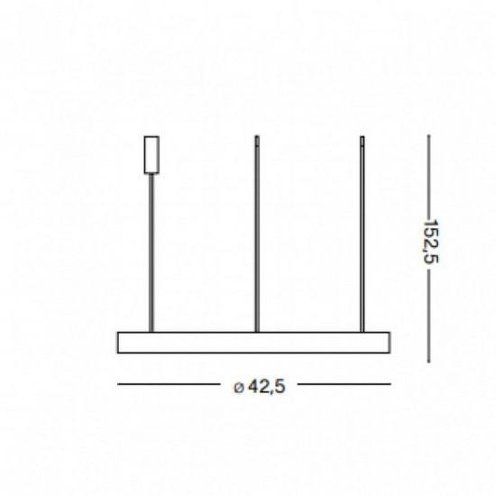 Ideal Lux Gemini sp d42 247229 Κρεμαστό Μεταλικό Φωτιστικό Οροφής