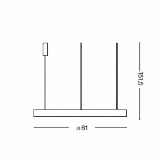 Ideal Lux Gemini sp d61 269832 Κρεμαστό Μεταλικό Φωτιστικό Οροφής