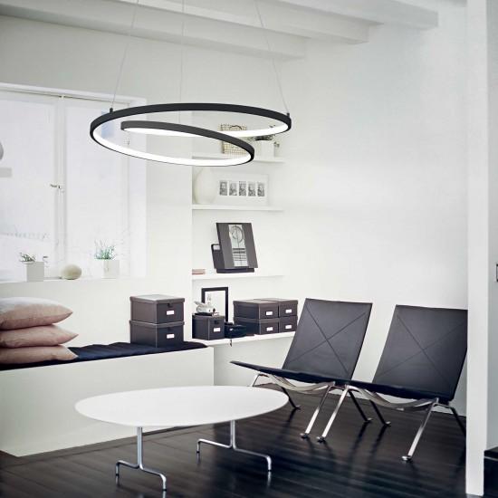 Ideal Lux Oz sp d80 269450 Κρεμαστό φωτιστικό Led Μαύρο