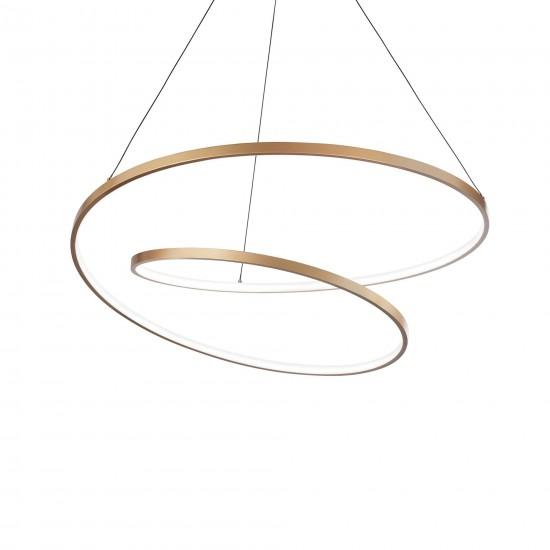 Ideal Lux Oz sp d80 269467 Κρεμαστό φωτιστικό Led Χρυσό