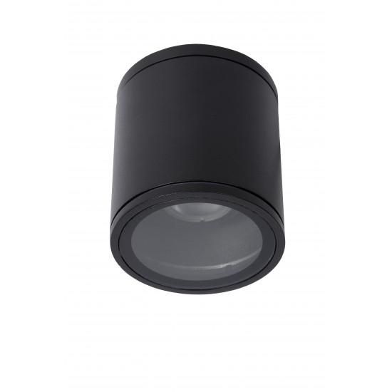 Lucide AVEN 22962/01/30 Προβολέας οροφής Στρογγυλός Gu10 / 50W IP 65 Μαύρος
