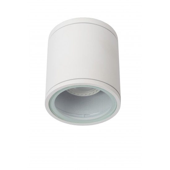 Lucide AVEN 22962/01/31 Προβολέας οροφής Στρογγυλός Gu10 / 50W IP 65 Λευκός