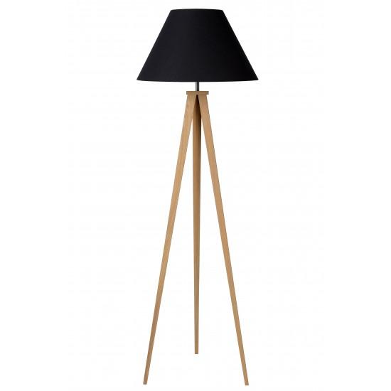 Lucide JOLLI 42702/81/30 Φωτιστικό δαπέδου E27 D50 H153cm Μαύρο από ξύλο