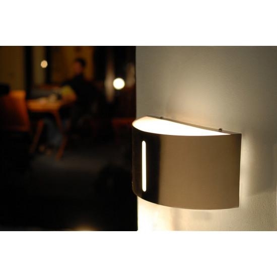 LUTEC bonn 6330402001 Φωτιστικό Τοίχου Εξωτερικού Χώρου ΙΝΟΧ
