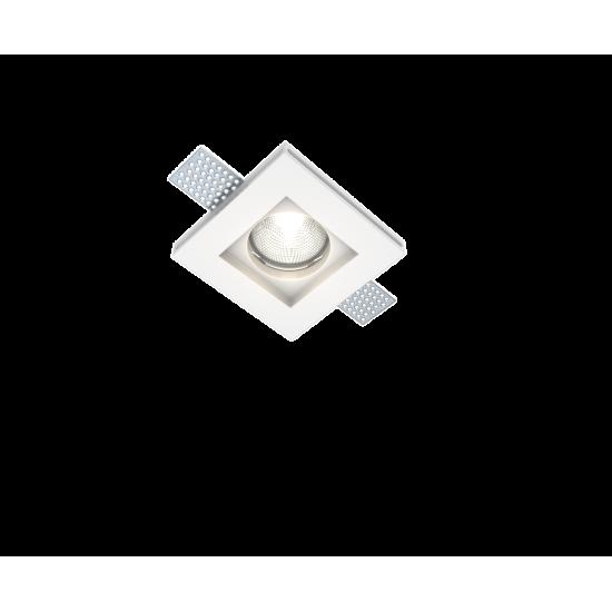 UNIVERSE U008914 Χωνευτό τετράγωνο γύψινο σποτ ορoφής. Επιδέχεται βαφή.