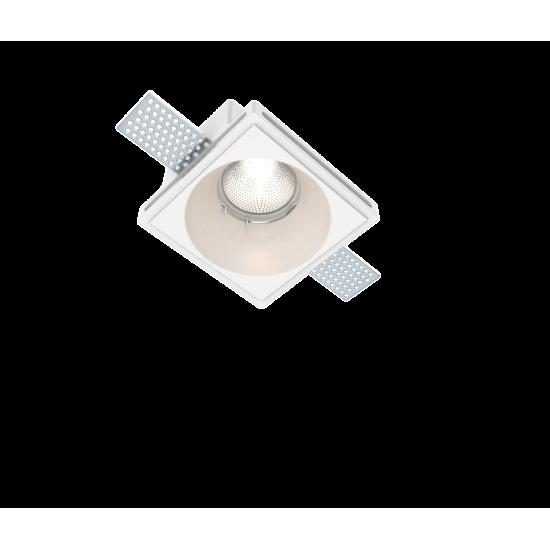 UNIVERSE U008969 Χωνευτό τετράγωνο γύψινο σποτ ορoφής. Επιδέχεται βαφή.