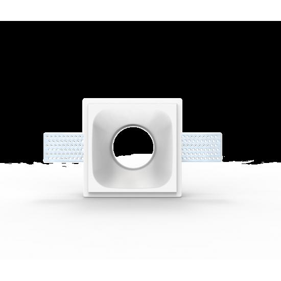 UNIVERSE U008952 Χωνευτό τετράγωνο γύψινο σποτ ορoφής. Επιδέχεται βαφή.