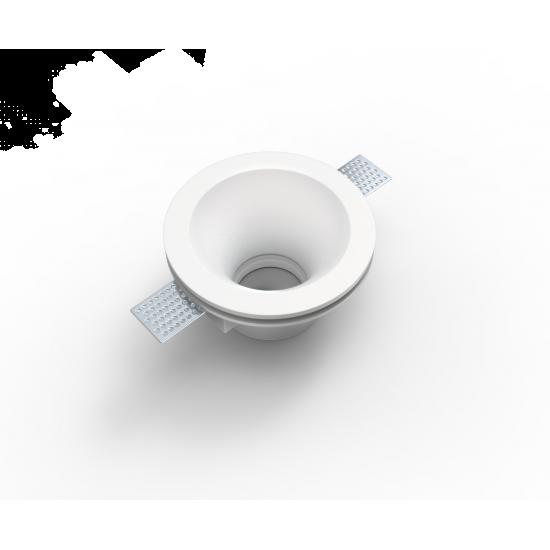 UNIVERSE U008945 Χωνευτό στρογγυλό γύψινο σποτ ορoφής. Επιδέχεται βαφή.