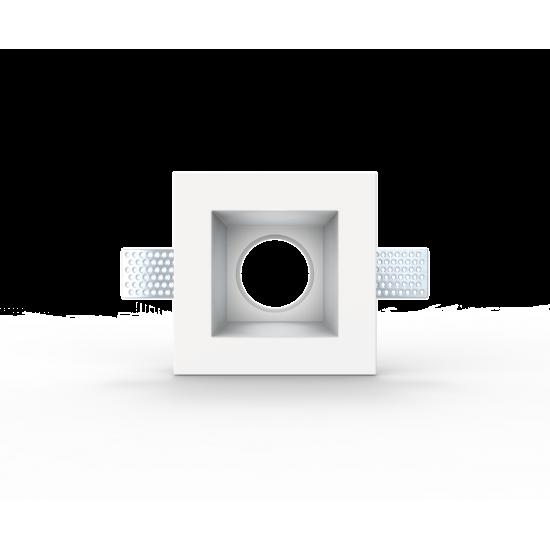 UNIVERSE U008938 Χωνευτό τετράγωνο γύψινο σποτ ορoφής. Επιδέχεται βαφή.