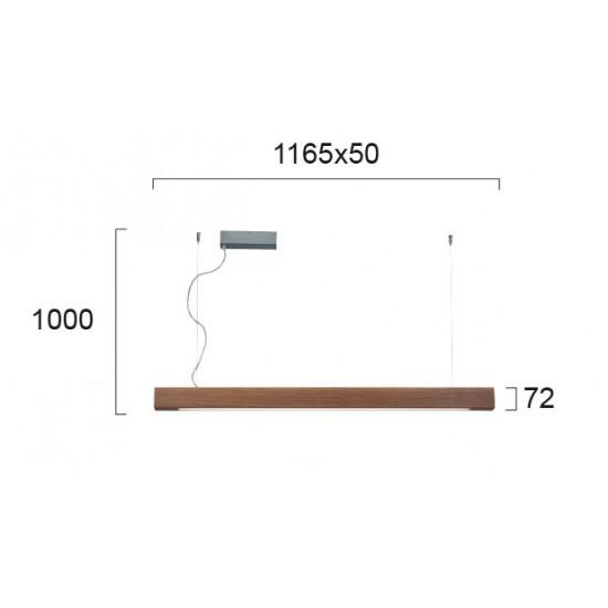 Viokef AVENUE 3089700 Κρεμαστό γραμμικό φωτιστικό Led σε μασίφ Ξύλο