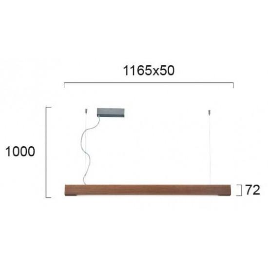 Viokef AVENUE 3089701 Κρεμαστό γραμμικό φωτιστικό Led σε μασίφ Ξύλο