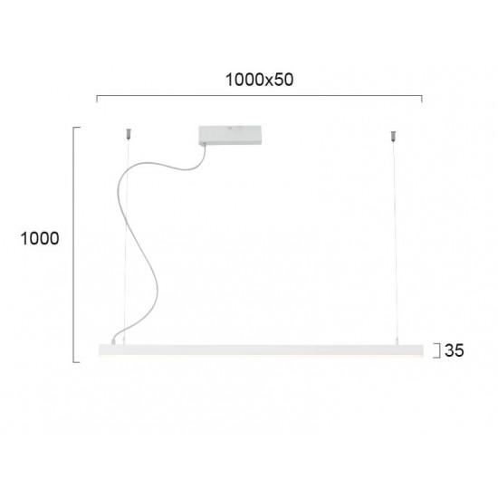 Viokef LYNNE 3994600 Κρεμαστό Γραμμικό Φωτιστικό Λευκό L:1000