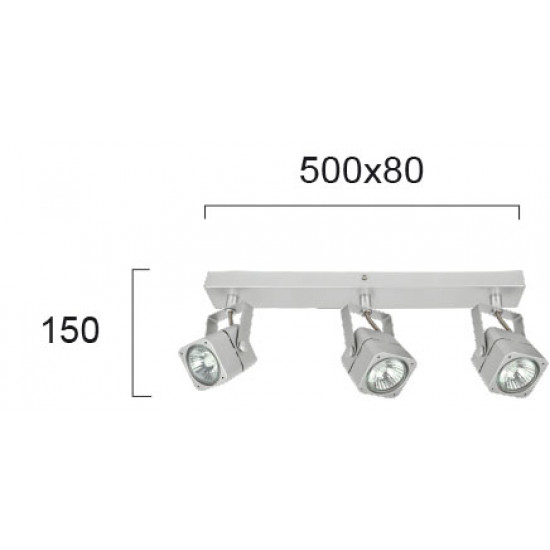Viokef ARNET 4104600 Σποτ 3/φωτο σε αλουμίνιο