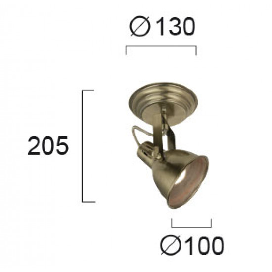 Viokef PRAGA 4166400 Σποτ οξυντέ