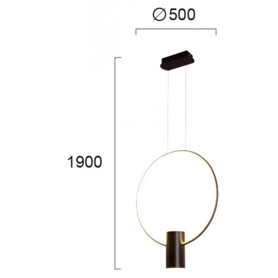 Viokef SINDY 4205901 Μεταλλικό Κρεμαστό Φωτιστικό Μαύρο LED
