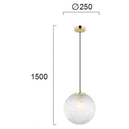 Viokef ASPA 4206100 Κρεμαστό Φωτιστικό με γυαλί διάφανο. Ανάρτηση οξυντέ.