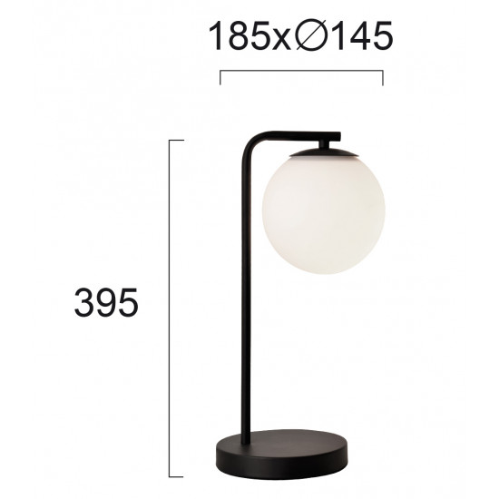 Viokef ANOUK (DANAE) 4219301Επιτραπέζιο με ανάρτηση μαύρη και γυαλί οπάλ ματ.