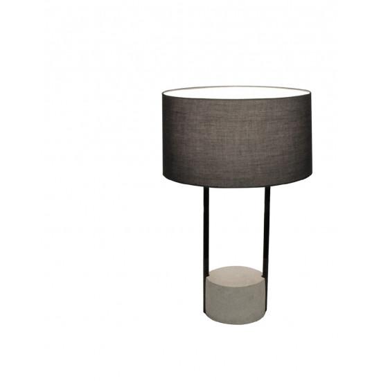 Viokef ALLEGRO 4219400 Επιτραπέζιο με σκούρο γκρί καπέλο από πλαστικοποιημένο ύφασμα. Βάση σε μαύρο μέταλλο και τσιμέντο.