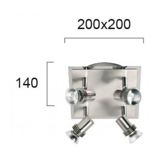 Viokef CHA-CHA 462000 Spot 4φωτο nickel mat