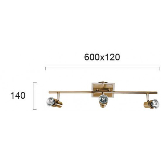 Viokef CHA-CHA 462101 Spot 3φωτη μπάρα Οξυντέ