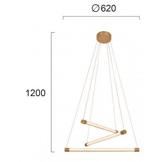 Viokef ABBA 4237500 Φωτιστικό Κρεμαστό LED σε Χρυσό Ματ