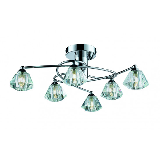 Viokef DIAMOND 4085300 Φωτιστικό Οροφής με πρισματικό γυαλί διάφανο. Ανάρτηση χρώμιο.