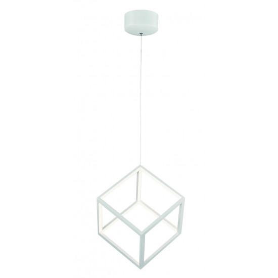 Viokef ICE-CUBE 4206900 Μεταλλικό Κρεμαστό Φωτιστικό σε Λευκό Χρώμα