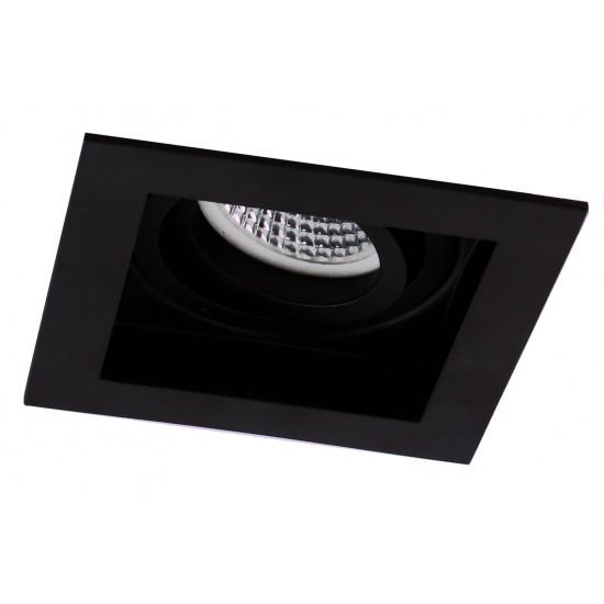 Viokef ARTSI 4208001 Χωνευτό Σποτ Μαύρο