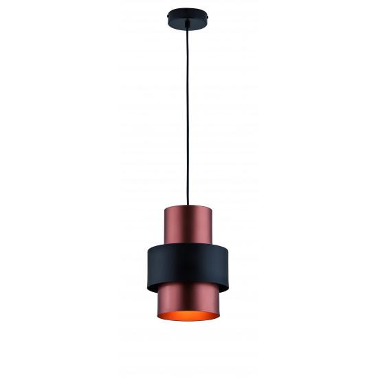 Viokef DEXTER 4215800 Κρεμαστό μεταλλικό φωτιστικό σε μαύρο με χαλκό.