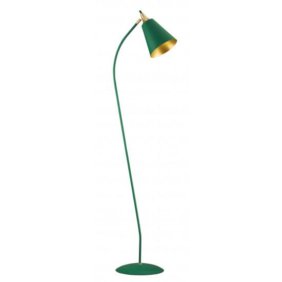 Viokef MENTA 4241800 Φωτιστικό Δαπέδου Μεταλλικό σε πράσινο με χρυσό.